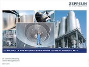 Zeppelin. Technology of raw materials handling for technical rubber plants